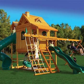 Игровая площадка с двумя спусками «Горный дом Делюкс»