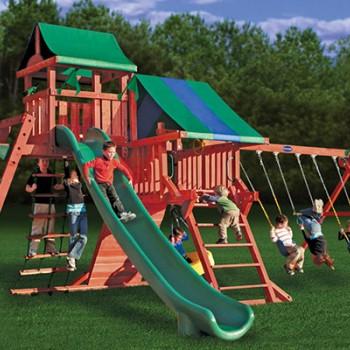 Игровая площадка с двумя спусками «Королевство Делюкс»