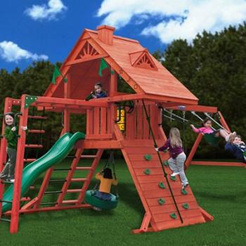 Игровой комплекс с деревянной крышей «Крепость свободы 2»