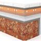 Монтаж гибкого камня на вспененный пенополистирол XPS