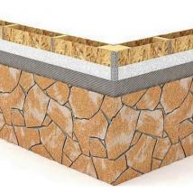 Монтаж гибкого камня Delap на OSB (0)