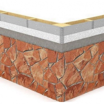 Монтаж гибкого камня Delap на фиброцемент (0)