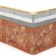 Монтаж гибкого камня Delap на фиброцемент