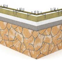 Монтаж гибкого камня Delap на опалубку Velox (0)