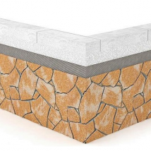Монтаж гибкого камня на ячеистый бетон, газобетон (0)