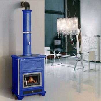 Печь Sissy, blue, с колонной (Sergio Leoni)