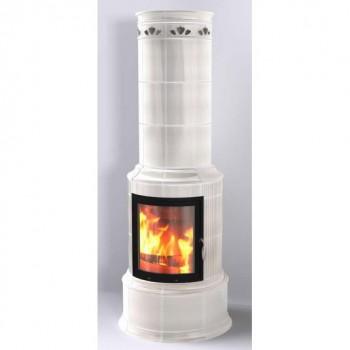 Печь Bella Rosa Klassik 3 ECOplus, creme-weiß 118, черная рамка (Hark)
