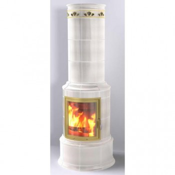 Печь Bella Rosa Klassik 3 ECOplus, creme-weiß 118, рамка золото + обводка (Hark)
