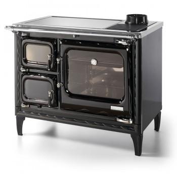 Печь-плита Deva II 100 H, гидроконтур, стеклокер., хром, чёрная (Hergom)
