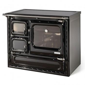 Печь-плита Deva 100 N, стеклокер., хром, черная (Hergom)