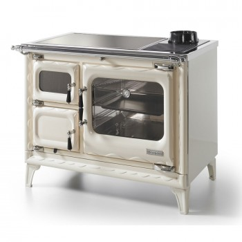 Печь-плита Deva II 100, стеклокер., хром, бежевая жемчужина (Hergom)