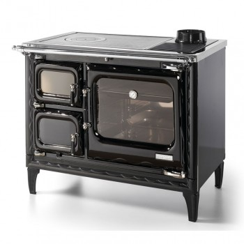 Печь-плита Deva II 100, чугун, хром, черная (Hergom)