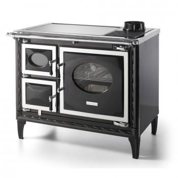 Печь-плита Nansa II, стеклокер., хром, черная (Hergom)