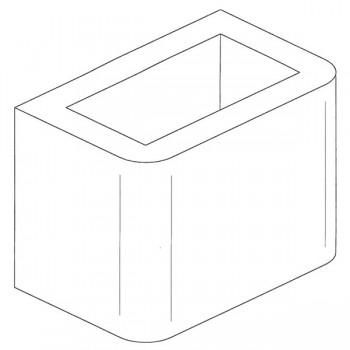 Элемент дымохода, неокрашенный, H=28 (Palazzetti)