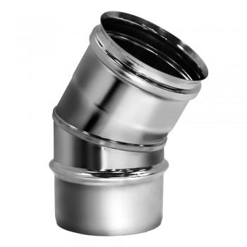 Отвод 30° D200 без изоляции, матовый (Вулкан)
