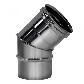 Отвод 45° D200 без изоляции, зеркальный (Вулкан)