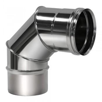 Отвод 90° D120 без изоляции, зеркальный (Вулкан)
