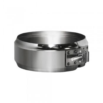 Хомут соединительный на трубу D180 без изоляции, зеркальный (Вулкан)