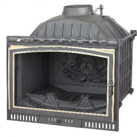 Топка Fabrilor - DECO 705 VU BR (боковое открытие дверцы, латунный фасад)