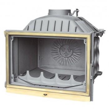 Топка Fabrilor - DECO 730 BR (боковое открытие дверцы, латунный фасад)