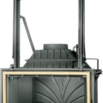 Топка Fabrilor - DECO 754 DO BR (подъёмный механизм дверцы латунный фасад)