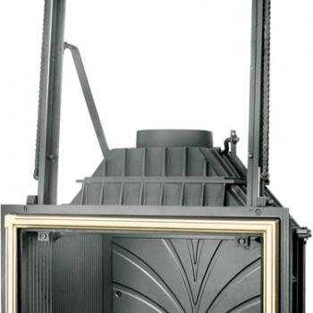 Топка Fabrilor - DECO 760 DO BR (подъёмный механизм дверцы латунный фасад)
