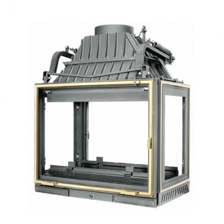 Топка Fabrilor - DECO 805 CENTRAL BR (боковое открытие дверцы, четырехсторонняя, латунный фасад)