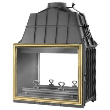 Топка Fabrilor - DECO 815 DF BR двухсторонняя топкa, боковое открытие дверцы, латунный фасад
