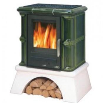 Кафельная печь ABX Bavaria (сельский цоколь, чугунная вставка)