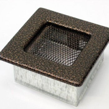 Каминная решетка Kratki 11х11 черная/медь пористая