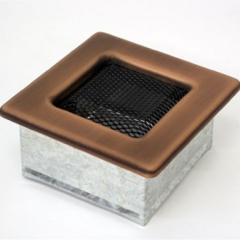 Каминная решетка Kratki 11х11 гальваника под медь