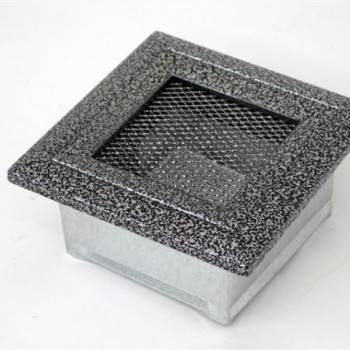 Каминная решетка Kratki 11х11 Оскар черная/хром