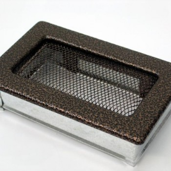 Каминная решетка Kratki 11х17 черная/медь пористая