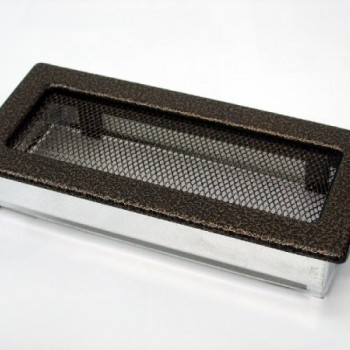 Каминная решетка Kratki 11х24 черная/медь пористая