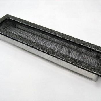 Каминная решетка Kratki 11х42 черная/хром пористая