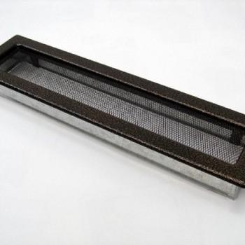 Каминная решетка Kratki 11х42 черная/медь пористая