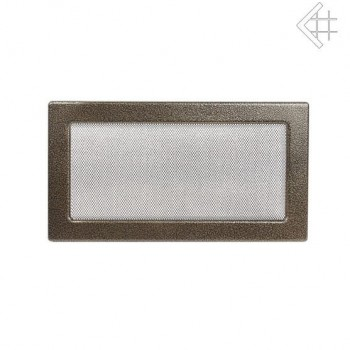 Каминная решетка Kratki 17х30 черная/латунь пористая