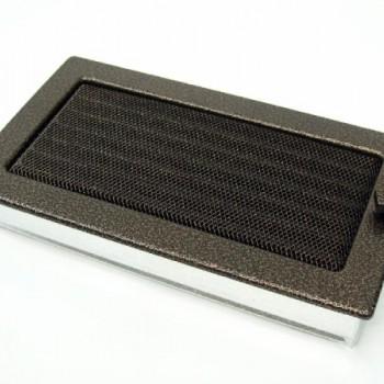 Каминная решетка Kratki 17х30 черная/медь пористая с жалюзи