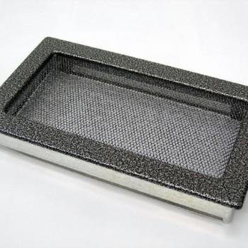Каминная решетка Kratki 17х37 черная/хром пористая