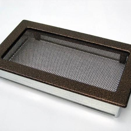 Каминная решетка Kratki 17х37 черная/медь пористая