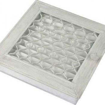 Каминная решетка Kratki Ретро белая с одной дверкой выдвигающаяся 17х17