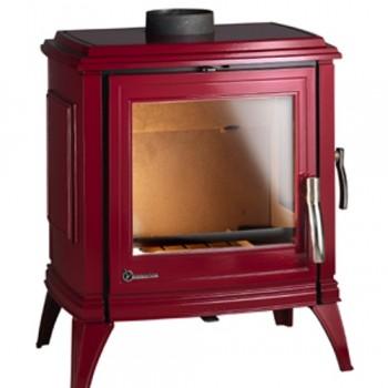 Каминная печь Invicta Sedan 10 красная эмаль