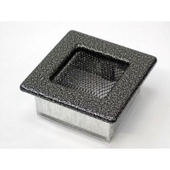 Каминная решетка Kratki 11х11 черная/хром пористая