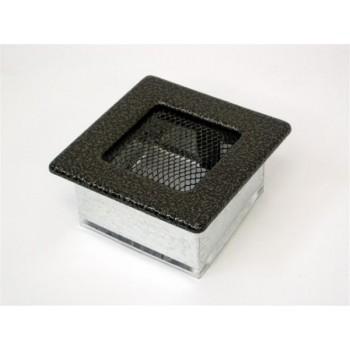Каминная решетка Kratki 11х11 черная/латунь пористая