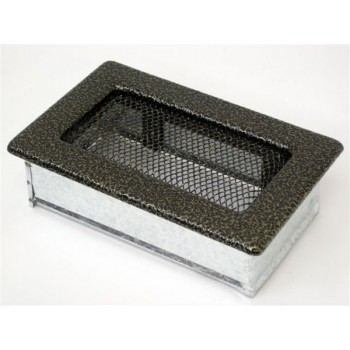 Каминная решетка Kratki 11х17 черная/латунь пористая