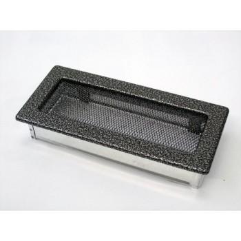 Каминная решетка Kratki 11х24 черная/хром пористая