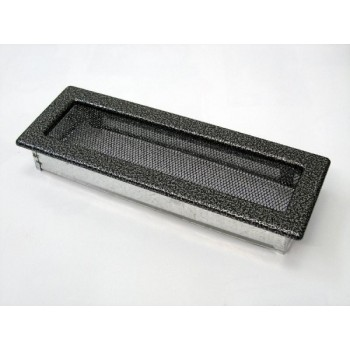 Каминная решетка Kratki 11х32 черная/хром пористая