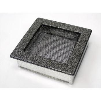 Каминная решетка Kratki 17х17 черная/хром пористая