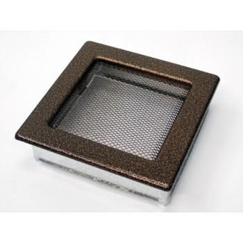 Каминная решетка Kratki 17х17 черная/медь пористая