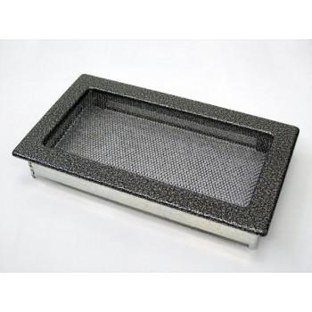 Каминная решетка Kratki 17х30 черная/хром пористая